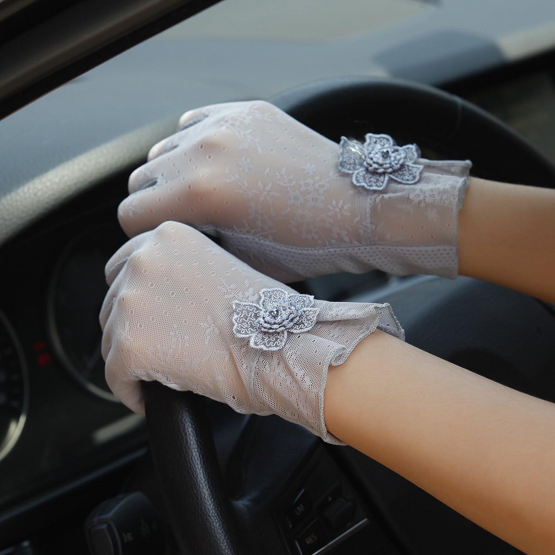EEVASS Women Elegant Lace Flower Wedding Dress Gloves Driving Gloves