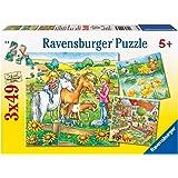 Ravensburger 09293 - Kleine Tiere - 3x49 Teile Puzzle