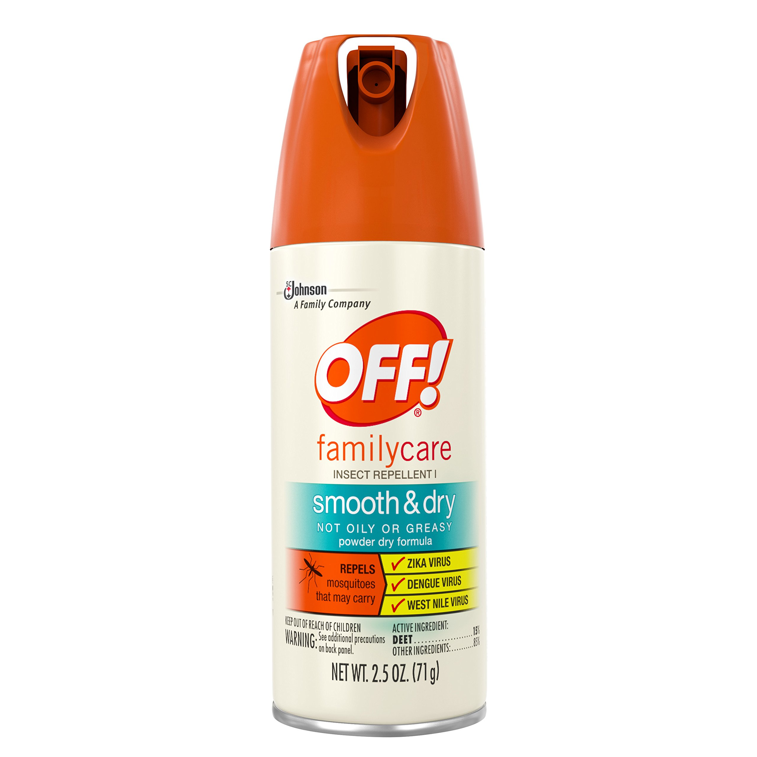 Off! Family Care Smooth & Dry, 2.5-Ounce Cans (Pack of 12)