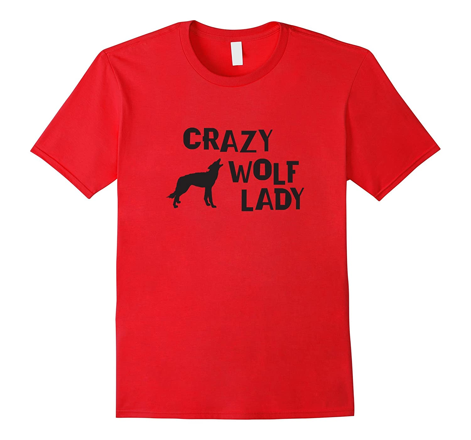 Funny Wolf Shirt  Crazy Wolf Lady T-shirt-TH
