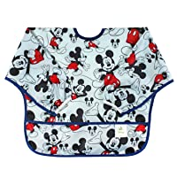 Bumkins Disney Mickey Mouse Sleeved Bib / Baby Bib / Toddler Bib / Smock, Waterproof...