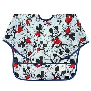 Amazon.com: Bumkins Disney Baby Waterproof Sleeved Bib, Mickey Mouse ...