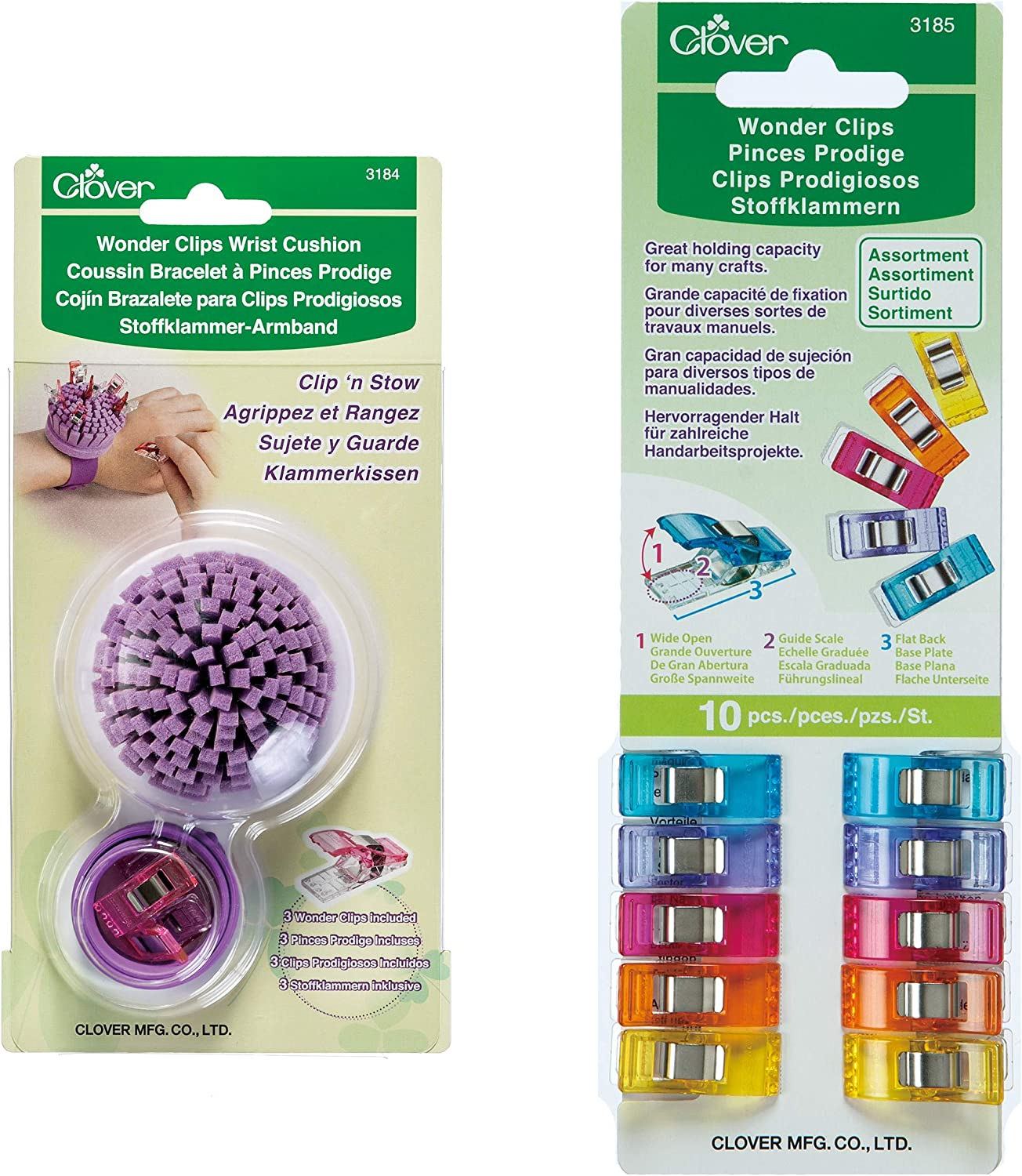 Amazon.com: Clover 3185 10-Piece Wonder clips, varios ...