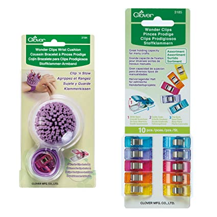 Clover E012 Wonder Clips Bundle Wrist Cushion, 54, Multiple 2