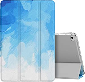 MoKo Case Fit New iPad Mini 5 2019 (5th Generation 7.9 inch), Slim Lightweight Smart Shell Stand Cover with Translucent Frosted Back Protector, with Auto Wake/Sleep - Blue Painting