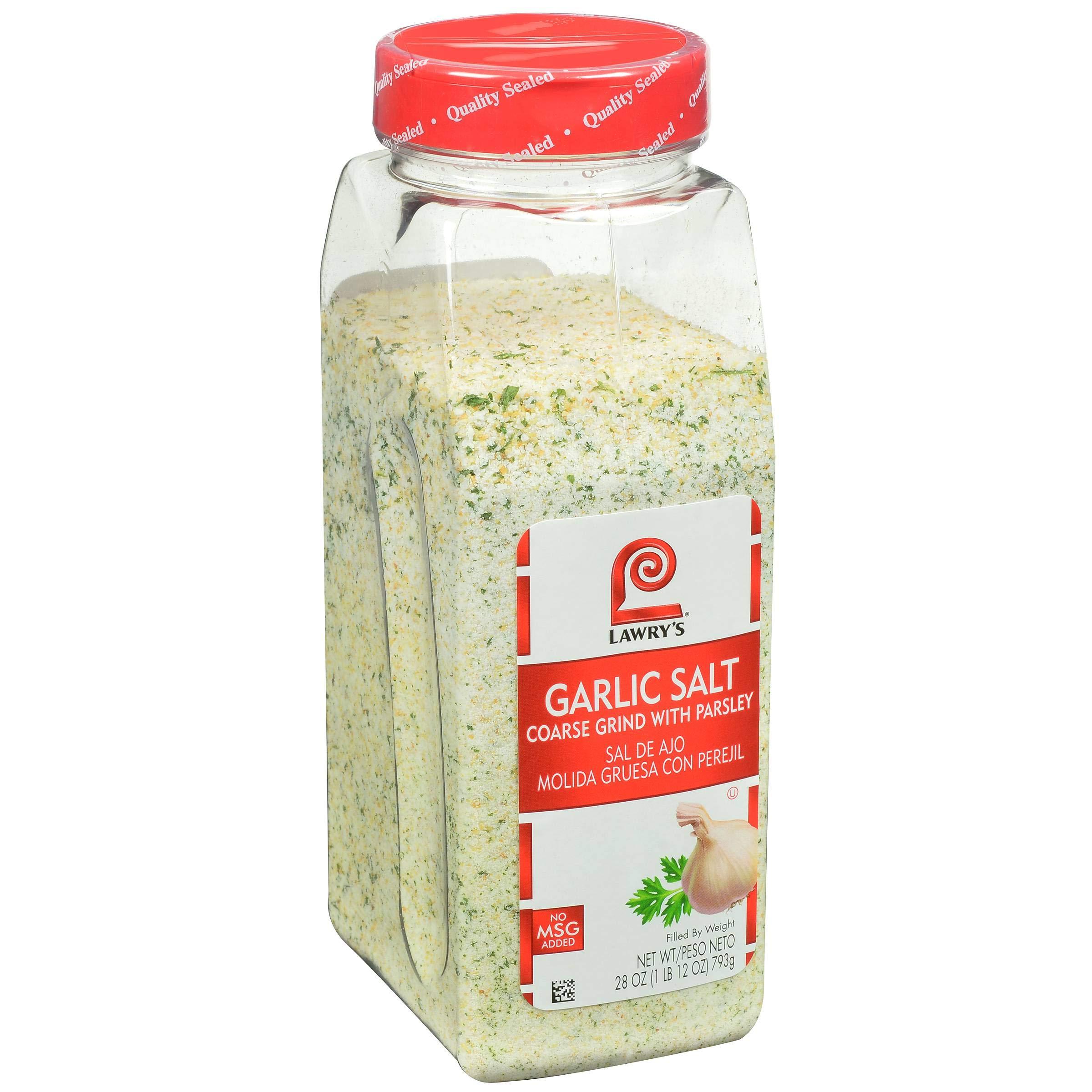 Lawrys Coarse Ground Garlic Salt with Parsley, 28 Ounce