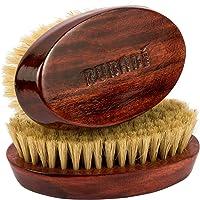 RUBAB MEN 100% Boar Bristle Beard Brush with Hand Crafted Premium Mango Wood Handle for Men (#NewYear Offer)