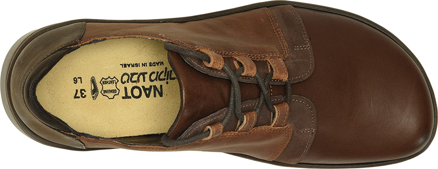 NAOT Women's Riviera Flat B07932VMJ4 42 M EU|Toffee Brown Leather/Crazy Horse Nubuck Combo