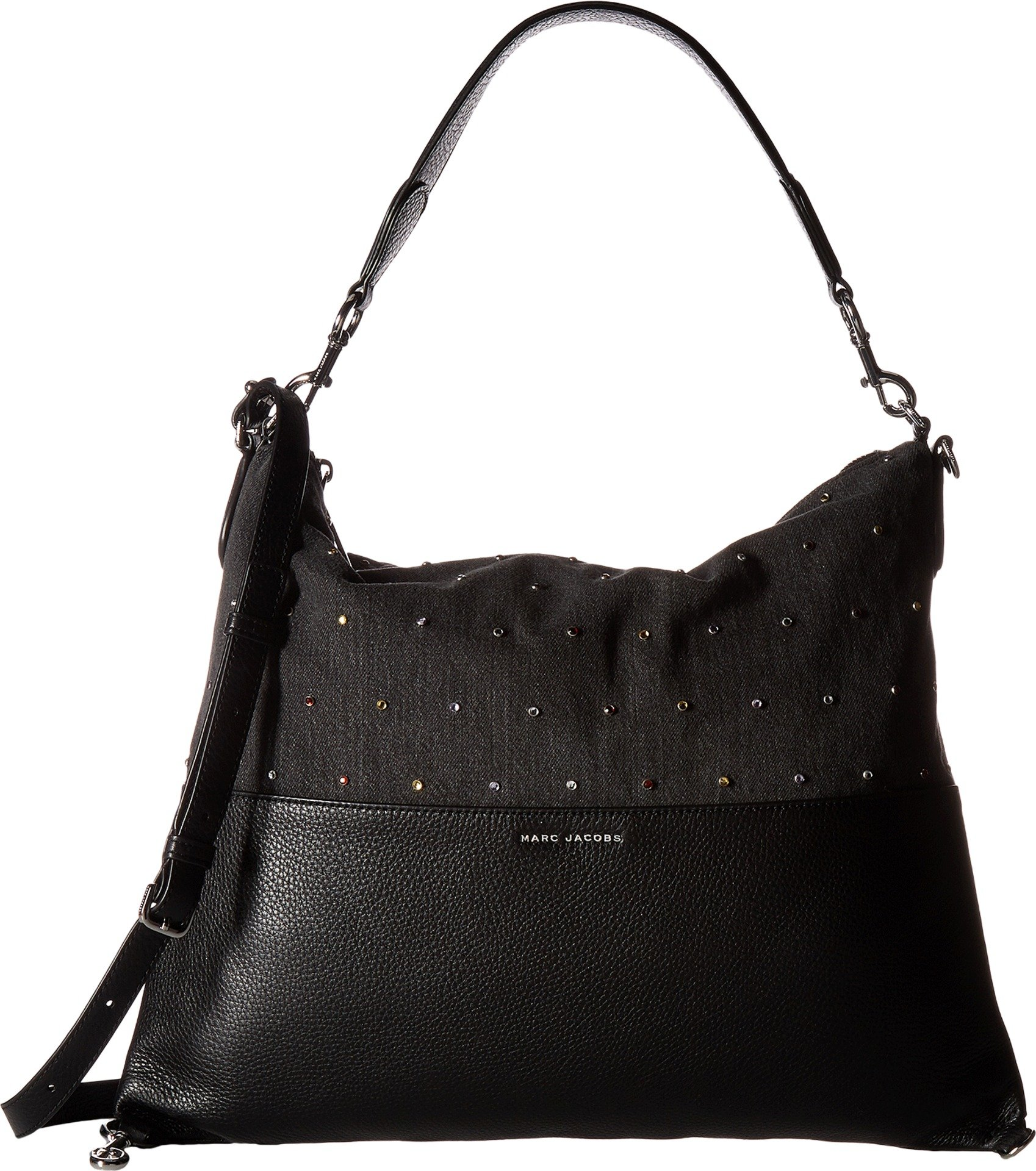 Marc Jacobs Women's Embellished Grip Satchel, Black, One Size