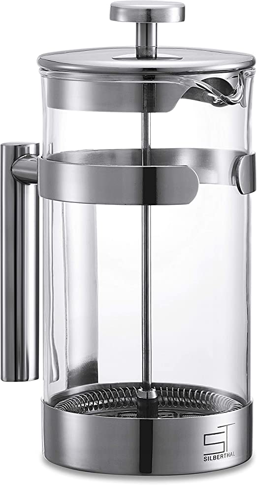 SILBERTHAL Cafetera émbolo acero inoxidable 1 litro | Cafetera con ...