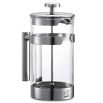SILBERTHAL Cafetera émbolo acero inoxidable 1 litro | Cafetera con filtro permanente | Prensa francesa para café de vidrio | French Press: Amazon.es: Hogar