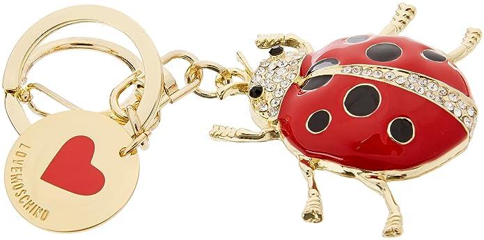 Portachiavi Metallo Oro, Womens Keyring, Gold, 1x1x1 cm (B x H T) Love Moschino