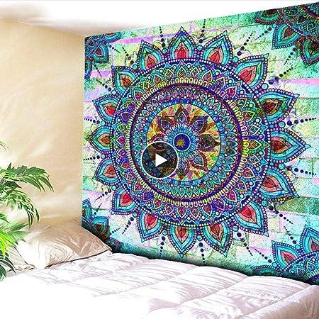 Rjjdd Elementos Budistas Loto Playa Floral Colgante Manta ...