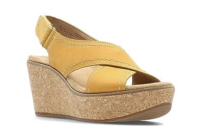 Clarks Damens's Aisley Tulip Fashion Sandales Yellow Yellow Nubuck Nubuck Nubuck b6cdb0