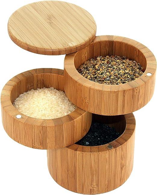 Totally Bamboo 20-8551 - Caja para Guardar Sal (Tres Pisos, Madera ...
