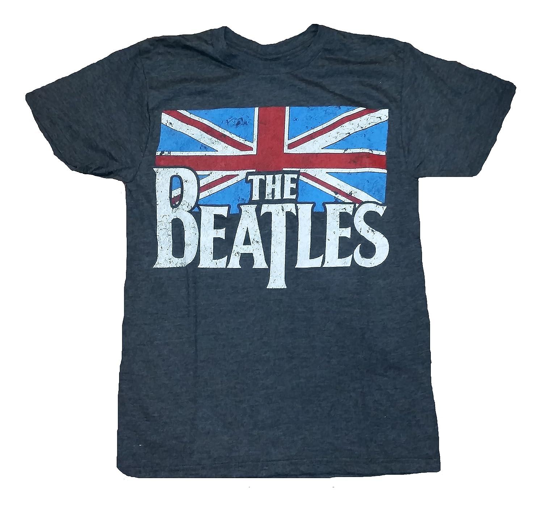 Amazon The Beatles British Flag Licensed Graphic T Shirt Clothing