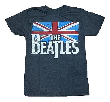 Amazon.com: The Beatles British Flag Licensed Graphic T-Shirt ...