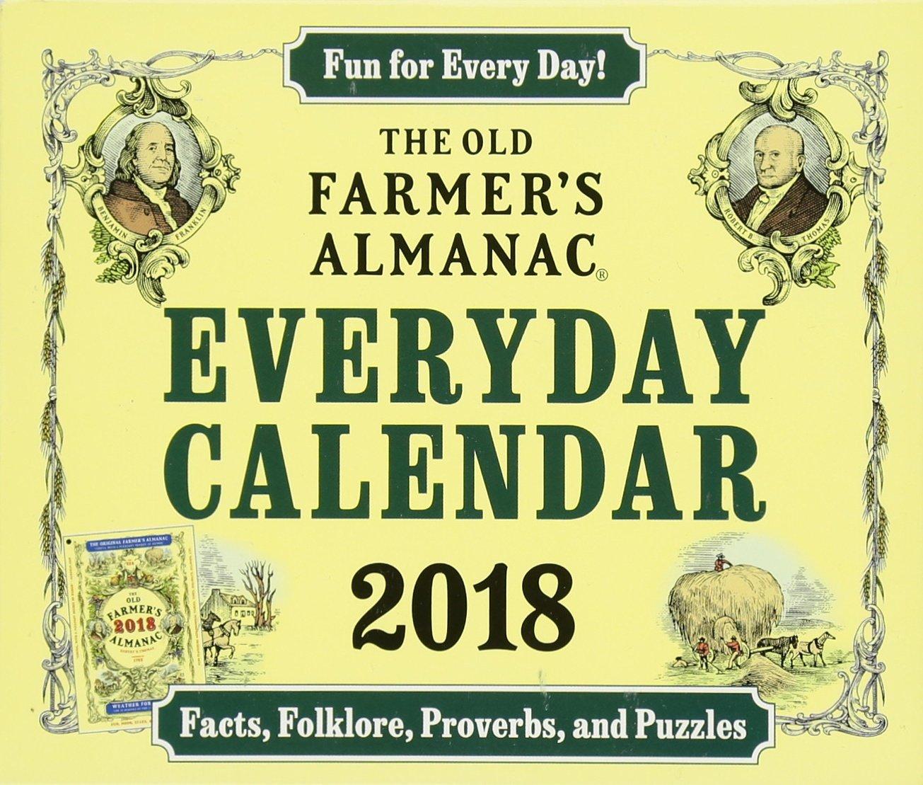 The Old Farmer's Almanac 2018 Everyday Calendar: Old