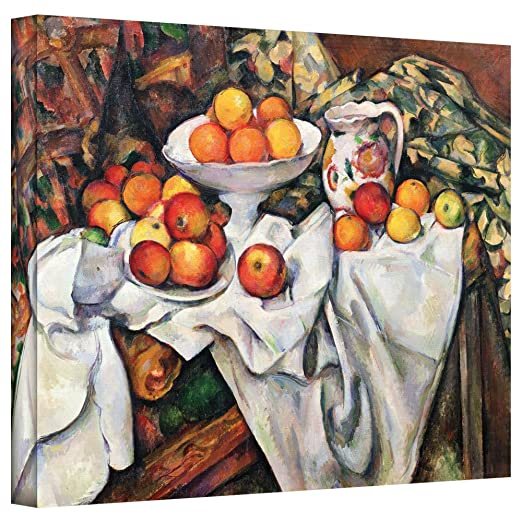 'Apples and Oranges' Gallery Wrapped Canvas Art,| Fruit wall Decor