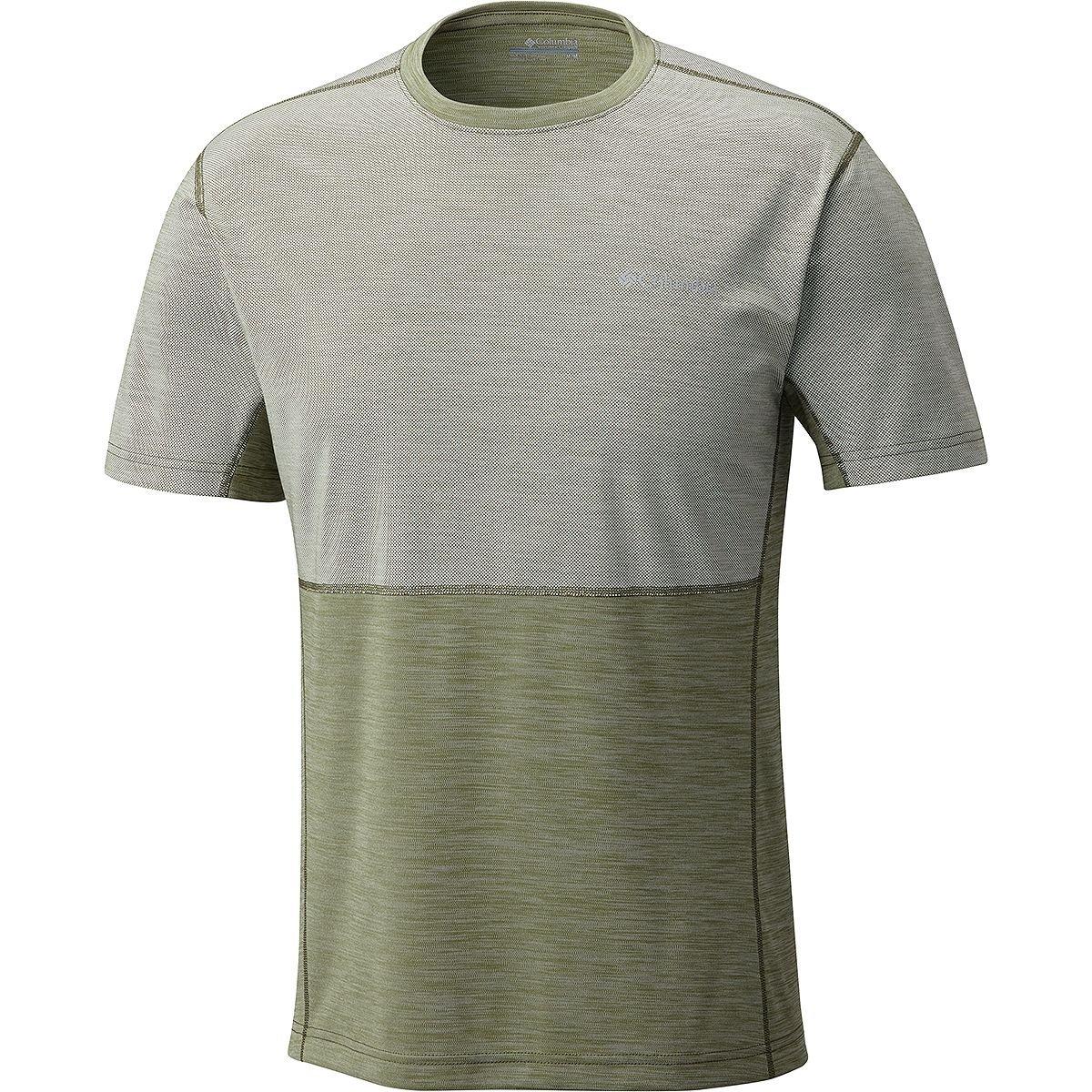 コロンビアメンズSolar Chill Short Sleeve B072M3L61B L|Mosstone Mosstone L