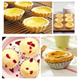 Axe Sickle 30pcs Mini Pie Pan, Round Shape Egg Tart molds, DYA Baking molds For Muffin Desserts