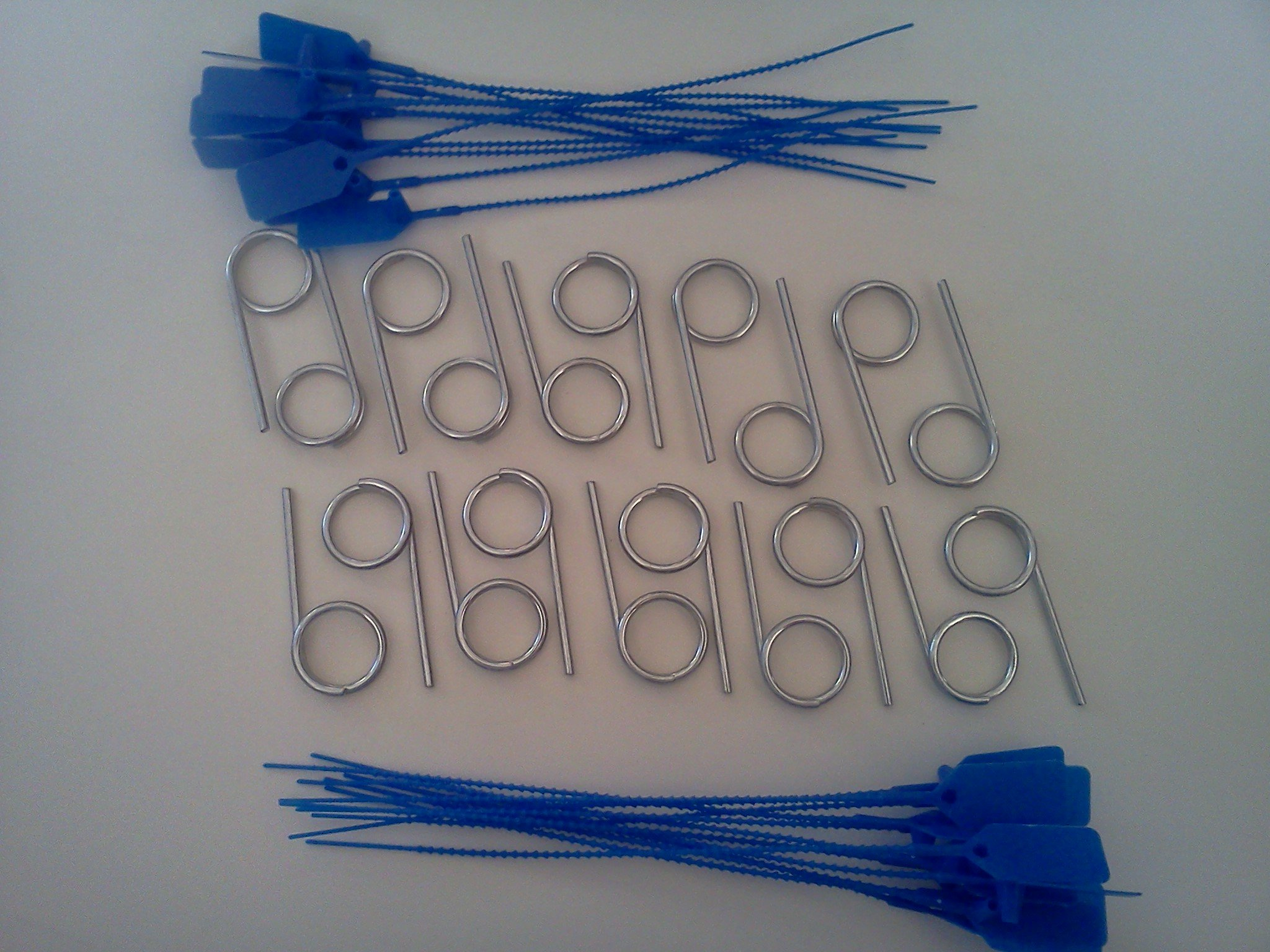 20 - Fire Extinguisher Pull Pins and 22 - Blue Tamper Seals