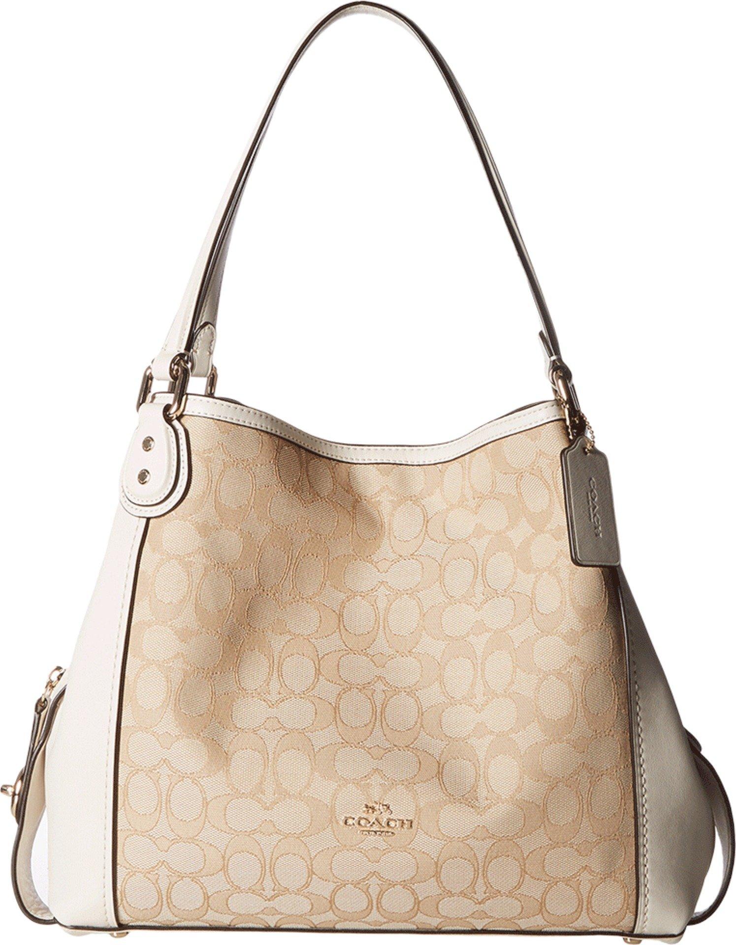 COACH Women's Signature Edie 31 Shoulder Bag LI/Light Khaki/Chalk Handbag