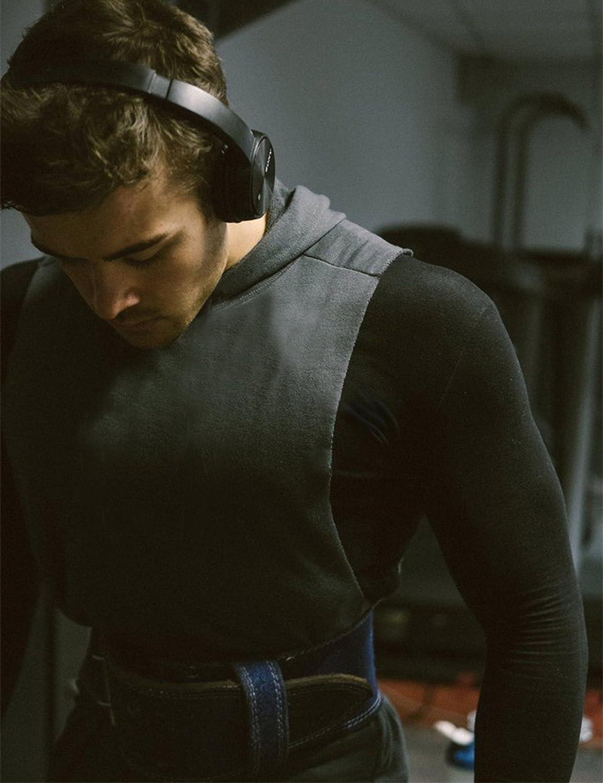 FENGCHENG Herren Sport /Ärmellos Hoodie Core Hooded Cut Off Tank Top mit Kapuze Hoodie Gym Fitness-95/% Baumwolle und 5/% Elasthan.