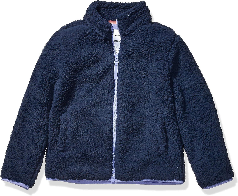 Amazon Essentials Girl's Polar Fleece Lined Sherpa Full-Zip Jacket