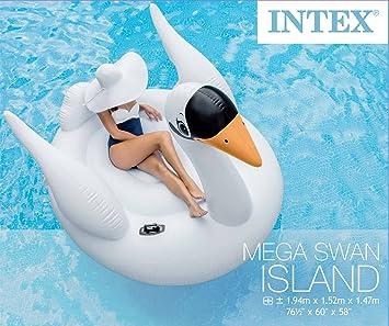 Intex Cisne enorme baño Isla Natación Animales Aire Colchón ...