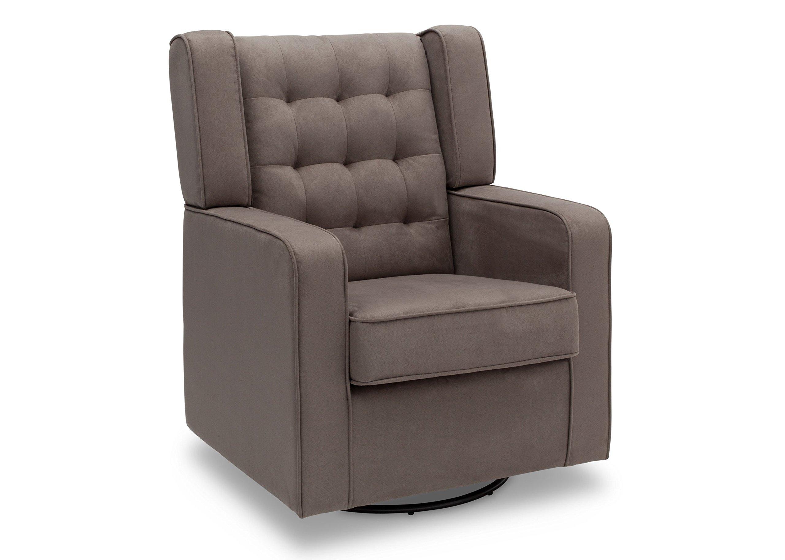 Delta Furniture Paris Upholstered Glider Swivel Rocker Chair, Graphite