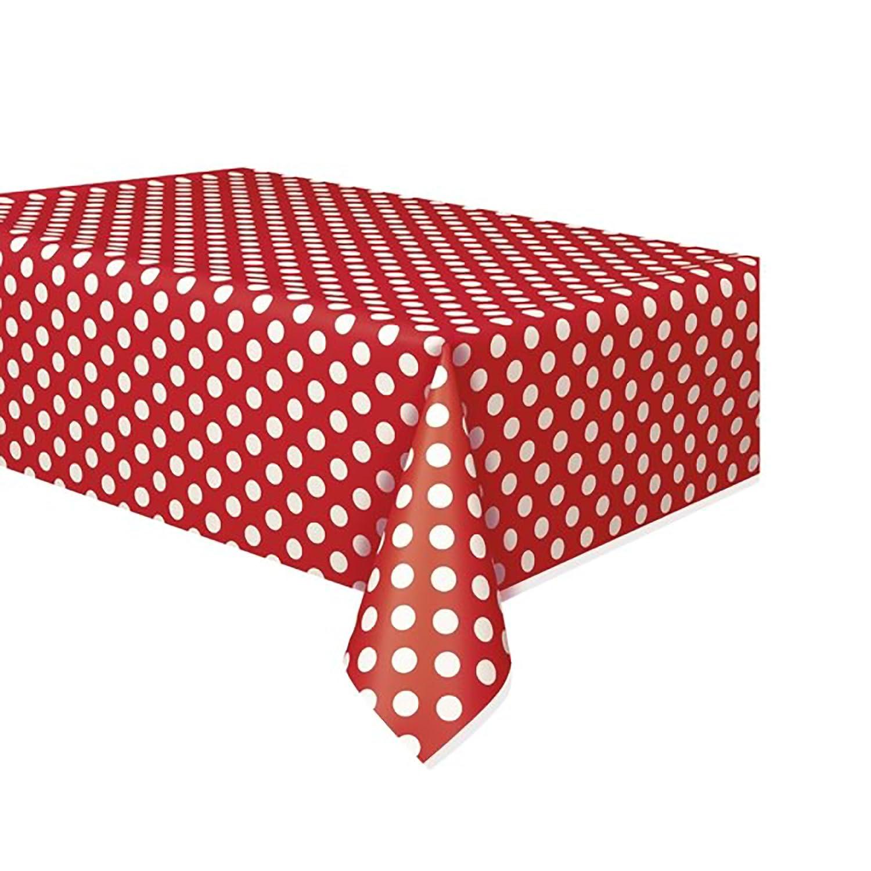 Einheitsgr/ö/ße Gelb//Wei/ß Unique Party Kunststoff Tischdecke mit Punktemuster