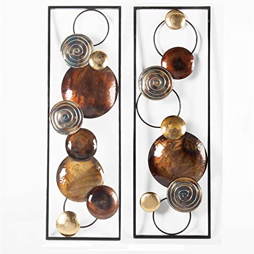 Winsome House Set of 2 Metal Wall Panel