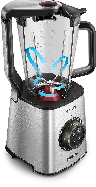 Philips Avance HR3752/00 - Batidora Americana de Vaso, 1400 W, Jarra 1.8 L Cristal, Bate al Vacio, Acero Inox: Amazon.es: Hogar