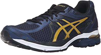 bdfcce46e49 ASICS Men s Gel-Flux 3 Running Shoe Dark Navy Rich Gold Black 7