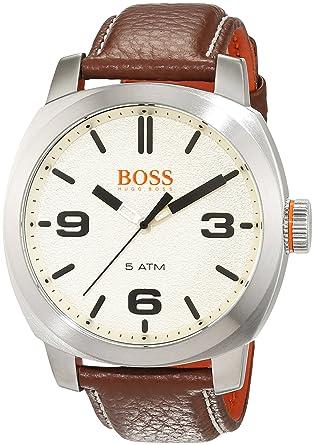 7f4fb27afac7 Hugo Boss Orange Hommes Analogique Quartz Montres bracelet avec bracelet en  Cuir - 1513411