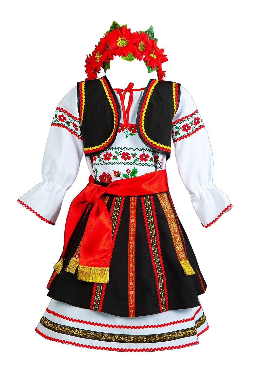 b3b8667d5 Amazon.com: Romanian costume women folk dress Moldova dancewear: Handmade