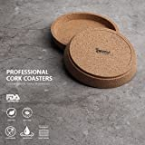 Sweese 241.101 Cork Coasters - 4 Inch Perfect for