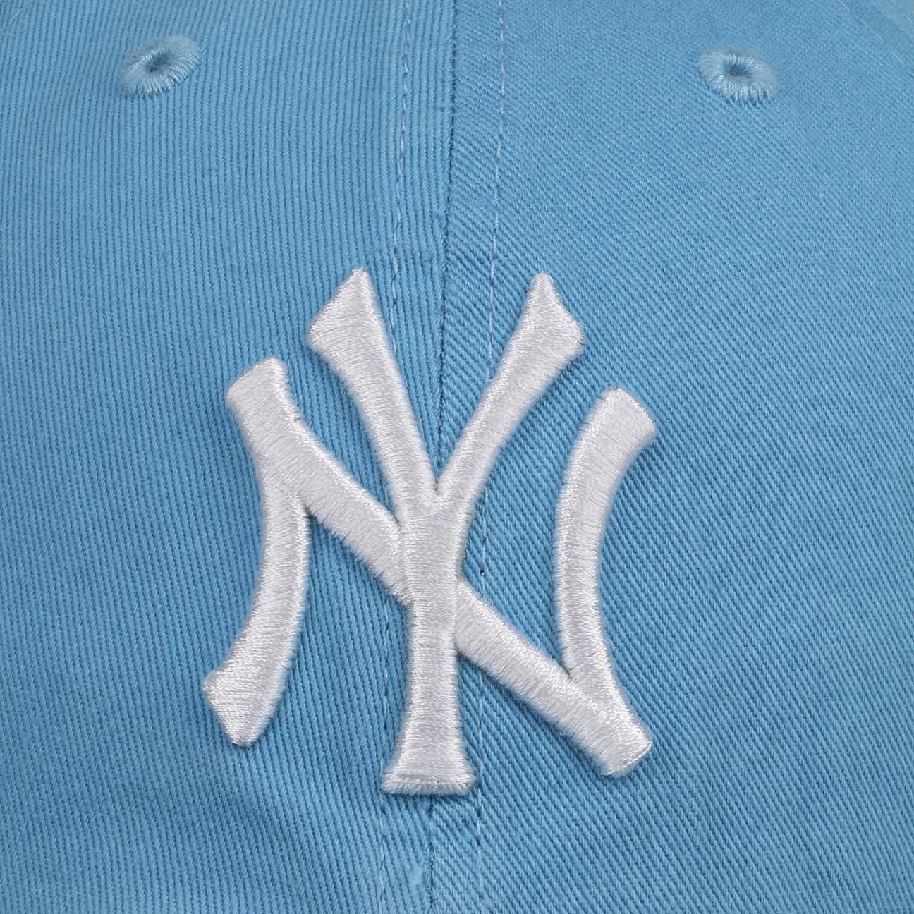 47 Brand Casquette Clean Up New York Yankees Bleu Ciel