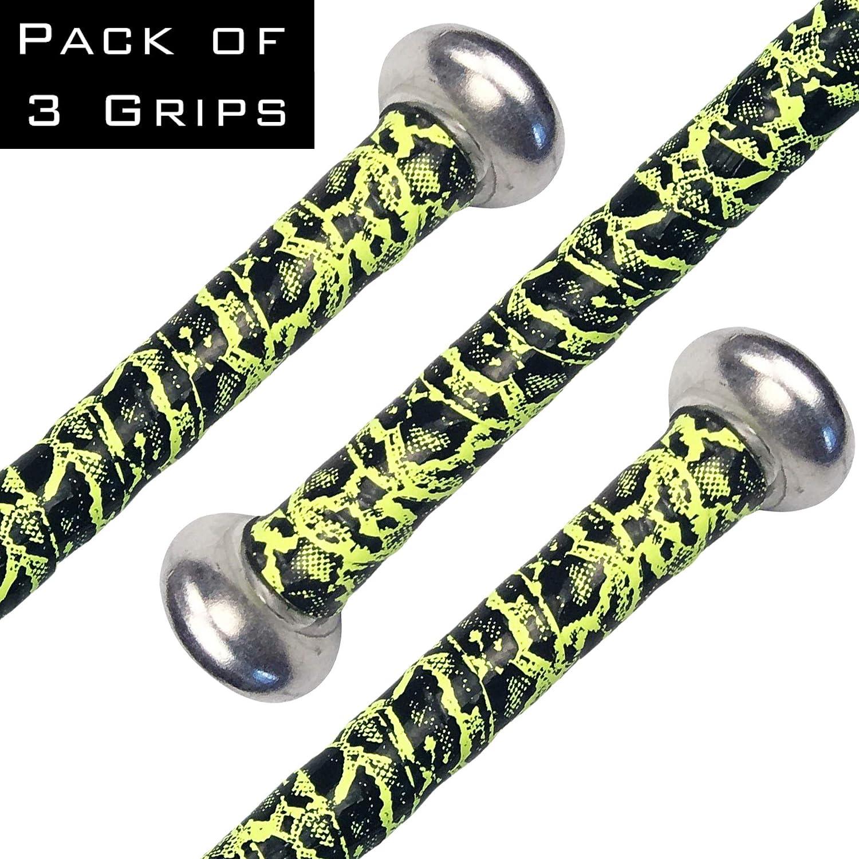 3-Pack Alien Pros Baseball Bat Grip Perfect to Overgrip Aluminum or Wood Bats - Non-Slip Grip Tape for Baseball and Softball Bats