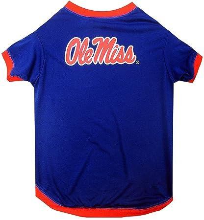 Amazon Com Pets First Ncaa Mississippi Ole Miss Rebels Dog T Shirt