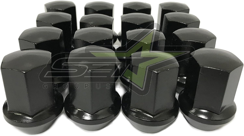 SET Group USA 2019 Ram 1500 OEM Factory Lug Nuts 14x1.5 Works with Factory Wheels 24 Pc Chrome