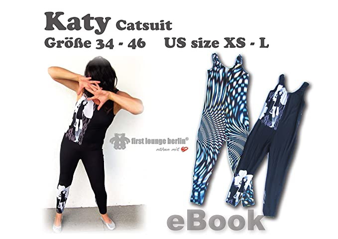 Katy Overall Nähanleitung mit Schnittmuster auf CD für Catsuit ...