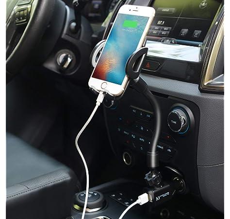 Amazon.com: Soporte de teléfono para coche, encendedor de ...