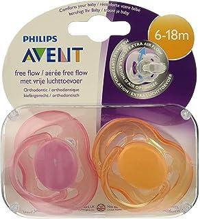 Philips Avent SCF178/26 - Pack de 2 chupetes ventilados lisos para ...