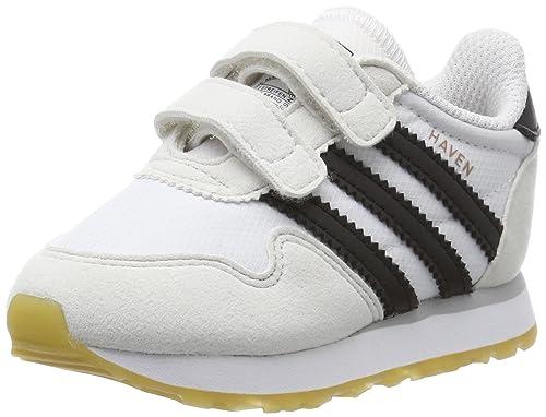 low cost 0de07 661dd adidas Haven CF I, Chaussures Premiers Pas Mixte bébé - Blanc - Blanc  (Ftwbla