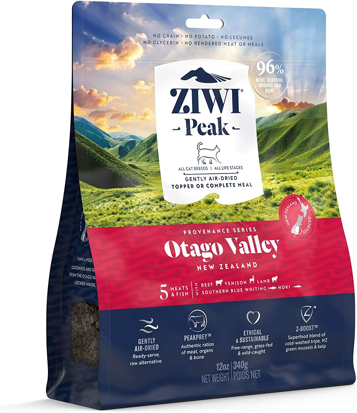 ZIWI Peak Provenance Air-Dried Cat Food – All Natural, High Protein, Grain Free with Superfoods