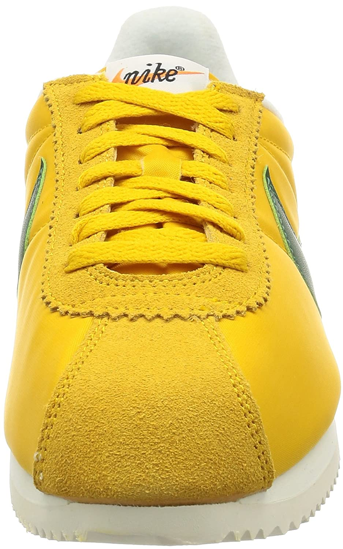 detailed look 2c4f8 4b9bf Nike Men s Classic Cortez Nylon Yellow Green 876873-700 (Size  7. 5)   Amazon.in  Shoes   Handbags
