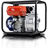 "AlphaWorks Gas Water Transfer Pump Portable 7HP 196cc 4-Stroke Engine EPA Certified 2"" Inch Intake 132GPM Flow Rate 23FT Suct"