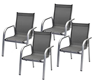 Good X Belardo Alu Emmelina Mit Armlehne Hochlehner Garten Sessel Stuhl  Gartenstuhl Aluminium Stapelstuhl With Hochlehner Garten